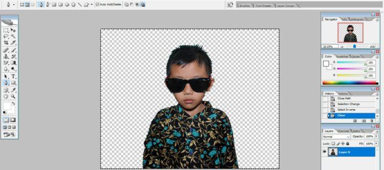 Cara menghilangkan background di Photoshop dengan cepat