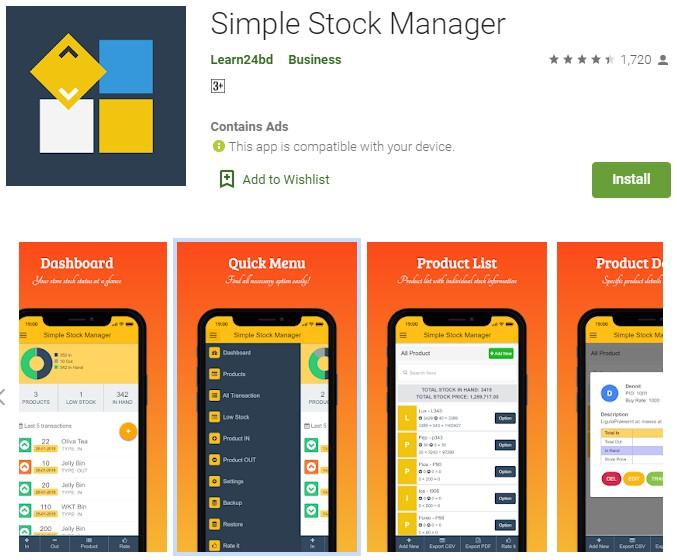 aplikasi persediaan barang android
