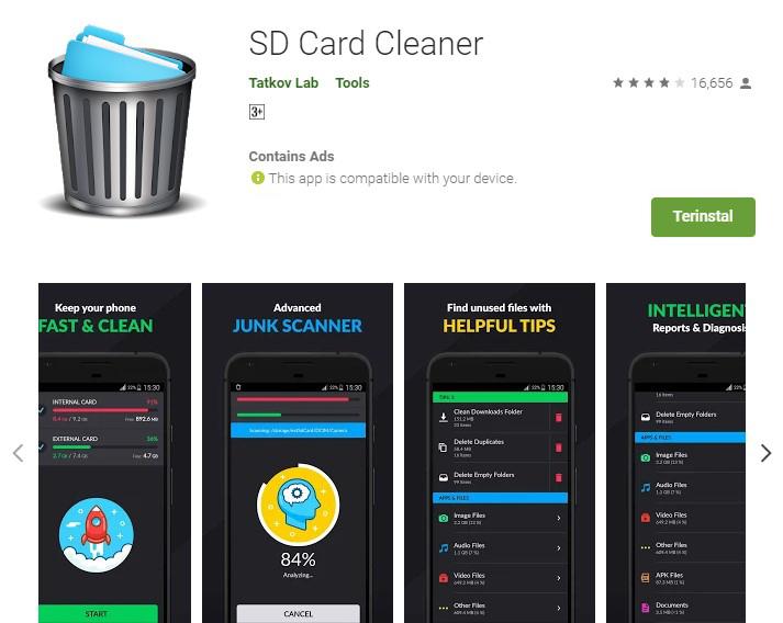 cara menghapus folder yang tidak bisa dihapus di android dengan sd card cleaner